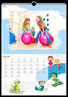 zdjęcia kalendarz dziecięce przygody