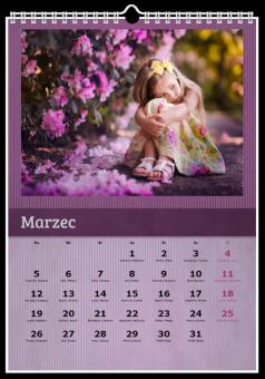 fotokalendarz fioletowy