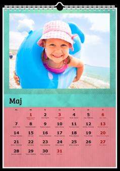 Kalendarz ze zdjęciami Kolorowy