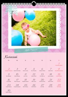 Kalendarz ze zdjęciami Little Princess