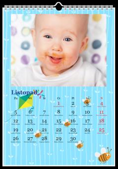 Fotografie kalendarz maluch niebieski