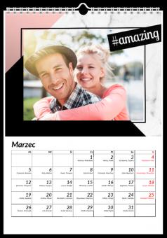 Marble Hashtags kalendarz ze zdjęciami