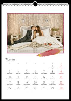 Kalendarz ze zdjęciami miodowy miesiąc