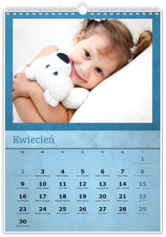 Fotokalendarz Niebieski