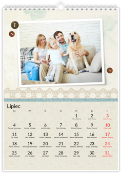 kalendarz ze zdjęciami Pastelowa kronika