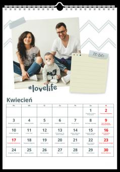 Planner kalendarz zdjęcia