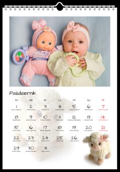 Fotografie kalendarz pluszaki