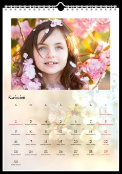 pory roku zdjęcia kalendarz