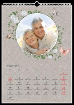 Retro Flowers fotokalendarz