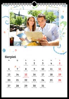 Słoneczna mozaika kalendarz