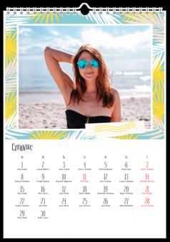 jak zrobić kalendarz Słoneczne wakacje