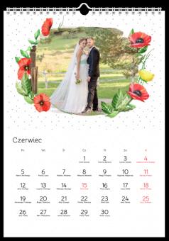 Kalendarz ze zdjęciami Ślubne Maki