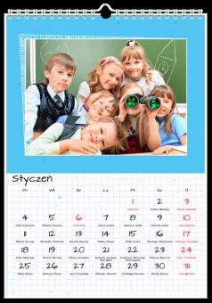 kalendarz do druku Szkolny notatnik