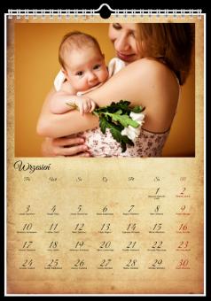 Fotografie kalendarz Vintage