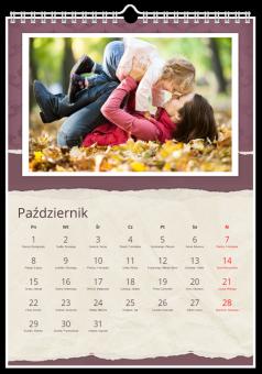 W kratę kalendarz ze zdjęciami