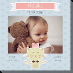 Wesoły kociak obraz do pokoju dziecka