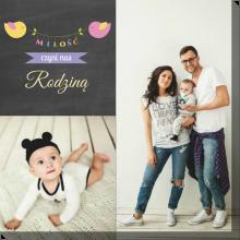 Miłość czyni nas rodziną obraz ze zdjęciem